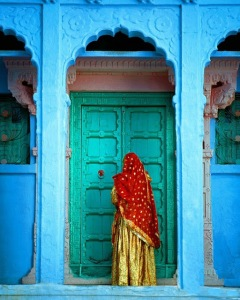 Moorish Indian Middle Eastern Architecture - doors - architecture - turquoise door via pinterest